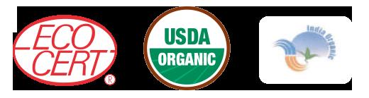 フランス『エコサート』認証・アメリカ『USDA』認証・インド政府 オーガニック認証